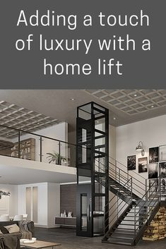 Have you considered a home elevator? Here we explore the reasons why having a residential elevator could really improve your home life. Some great reasons and practicalities to have installing an elevator in your home. Home Stairs Design, House Design, Loft Spaces, Loft Apartments, House Lift, Lift Design, Design Design, Elevator Design, Villa