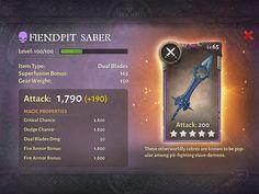 Dungeon hunter 5 Item Details menu by Panperkin