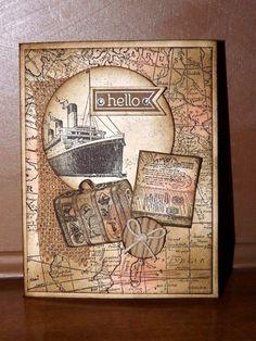 Stampin Up Vintage Hello or Retirement Card Kit Set of 4 | eBay