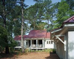 Low Country Cottage traditional exterior, I like the idea of an all or partial (porch roof only?) metal roof