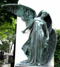 Angel Sculpture, Central Graveyard Vienna Austria