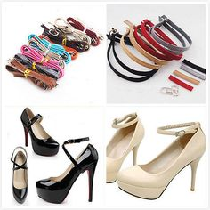 Shoe straps- great idea, especially for heels that are just a tad too loose.