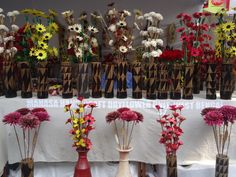 Khadi Exhibition Cum Sale: artificial flowers inspired from nature.  Photographed by: P. Ranreiphi Kharei