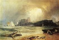 Pembroke Caselt, South Wales, Thunder Storm Approaching - William Turner
