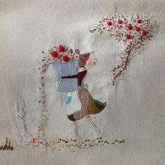 Так мило. Автор @hyunwook0715 . So cute by @hyunwook0715 ♥️ #вышивка #вышивание #явышиваю #магазинрукоделия #магазинвышивки #вышивкагладью #гладь #crewel #мулине #нити #embroidery #творчество #хобби