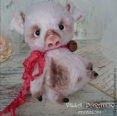 Купить Марчелло...белло, белло) - бледно-розовый, поросенок тедди, хрюшка, свинка, тедди