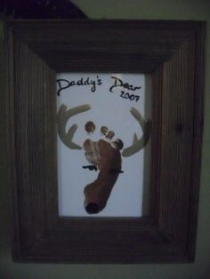 Daddy's Dear(s) - reindeer footprint art Baby Crafts, Crafts To Do, Crafts For Kids, Craft Gifts, Diy Gifts, Daddy Day, Footprint Art, Handprint Art, Fathers Day Crafts