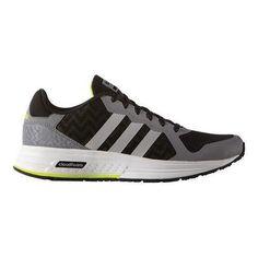Men's adidas NEO Cloudfoam Flyer Sneaker Grey/Matte /Black