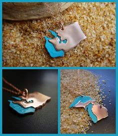 Any State or Country Pendant Necklace in Copper by sprout1world, $45.00 #sprouts #state #pendant #necklace #water #beach #waves #watersports #sports #washinton #michigan #seattle