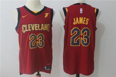 4ca604a90 Nike NBA Cleveland Cavaliers  23 LeBron James Jersey 2017 18 New Season  Wine Red Jersey