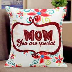 a special for a who is special. She knows you, understands you and loves you beyond everything. Small Cushion Covers, Small Cushions, Beige Cushions, Special Gifts For Mom, You Are Special, Body Craft, Heart Shaped Cakes, Red Carnation, Personalised Cushions
