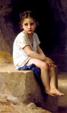 Bouguereau...sometimes a bit twee, this is actually quite touching, and always beautifully executed.