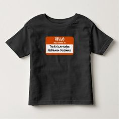Kid Who Hates Halloween Costumes Nametag Toddler T-shirt - party gifts gift ideas diy customize