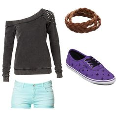 School Outfit - Polyvore i would get the shoes in either gray, blake , or white