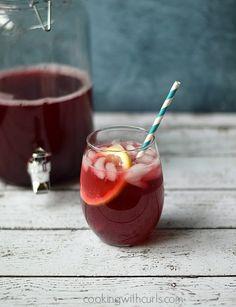 Passion Tea Lemonade | cookingwithcurls.com | #tazotea