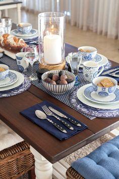 Indekho Val de Vie Blue Table Setting