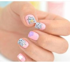 #nails #cat #inspiración #pink