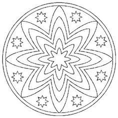 Mandalas To Paint Mandala Coloring Pages, Colouring Pages, Adult Coloring Pages, Coloring Books, Mandala Pattern, Mandala Art, Beaded Embroidery, Embroidery Patterns, Cd Crafts