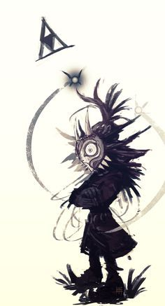 #LegendOfZelda #leyendadezelda #mascarademajora #Majora'sMask #Skullkid #juego #videojuego #hada #tinta #ink / yo queria esa #mascara