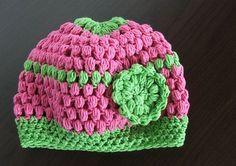 crochet hat - Pecičková