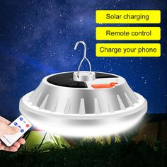 Usb Power Bank Multifunction Steel Hook Hanging Camping Lantern For Garden Outdoor Camping Lamp, Remote, Solar, Usb, Phone, Telephone, Mobile Phones, Pilot