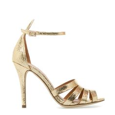 Gold heels, perfect for the modern bridesmaids. Zapatos Shoes, Shoes Heels, Heeled Sandals, Cute Shoes, Me Too Shoes, Pretty Shoes, Jordan Shoes, Keds, Converse