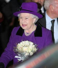 The Queen  is beautiful in purple.