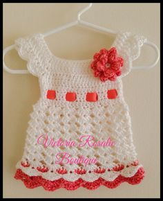 Crochet baby dress, newborn dress, baby frock, summer dress