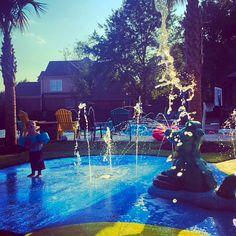 Residential splash pad. Water fun in your own backyard!