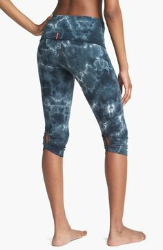 These printed leggings for Nordstrom are a great example of yoga pants that are worn for several different activities. Activities such as running, yoga, hot yoga, and several other physical classes are just a few examples. Printed yoga pants are very common today and come in all different colors and prints. Jaden J.