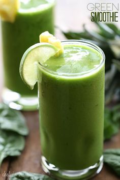 Green Smoothie from chef-in-training.com …This drink is DELICIOUS! It is so healthy and a great way to sneak in some added veggies without the kids even knowing!