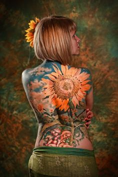 Sunflower tattoo! Minus the butt babies!