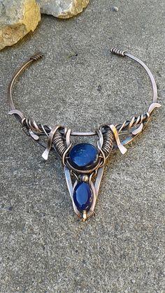 Copper wire fantasy necklaceCopper wire necklace by Tangledworld