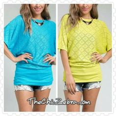 {Hadli Top} Lime or Blue? ah... decisions, decisions!   #readyforspring