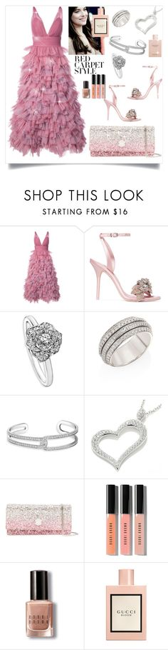 """""""RED CARPET STYLE"""" by petra-f-b ❤ liked on Polyvore featuring Notte by Marchesa, Sophia Webster, Piaget, Jimmy Choo, Bobbi Brown Cosmetics and Gucci"""
