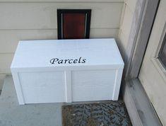 Photo Gallery — Porch Box & Parcel Box: The Original Home Delivery Box Porch Mailbox, Porch Boxes, Front Porch, Package Mailbox, Package Box, Drop Box Ideas, Parcel Drop Box, Diy Projects, Pallet Projects
