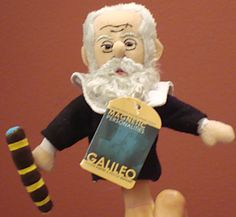 Galileo Finger Puppet - Astronomer Galileo Galilei can entertain as a finger puppet, or decorate your fridge as a magnet. ($5.50)