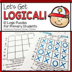 Logic Puzzles for elementary students. 10 fun grid puzzles to introduce critical thinking and problem solving skills. Reading Response Activities, Critical Thinking Activities, 1st Grade Activities, Grid Puzzles, Logic Puzzles, Third Grade Science, 2nd Grade Math, Grade 2, Why Try