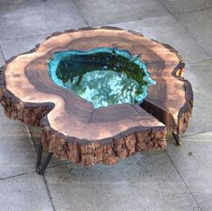 Fantastisches Harz Holztisch Projekt 7 de madera – proyectos de trabajo en madera – Epoxy Crafts – New Epoxy Epoxy Wood Table, Epoxy Resin Table, Wood Tables, Dining Tables, Outdoor Dining, Resin In Wood, Wood Projects, Woodworking Projects, Woodworking Furniture