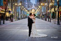 Downtown Calgary, winter wedding