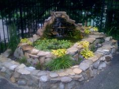 Water Garden Ponds and Waterfalls Water fountains add a peaceful sound to any garden