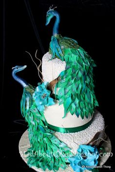 Peacock Wedding Cake | Mad About Cake: Peacock Cake for an Indian Wedding