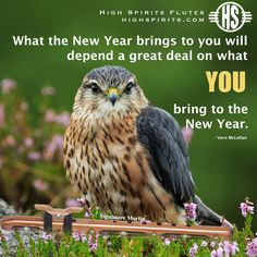 What the New Year brings to you will depend a great deal on what You bring to the New Year.   #inspiration #quote