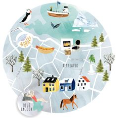 Style destination: Reykjavik, Iceland {Illustration by: Emilie Simpson}