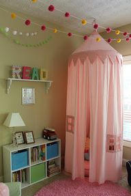 Reading Corners for Kids- like to canopy, but needs to be draped on ground around a pallate of pillows