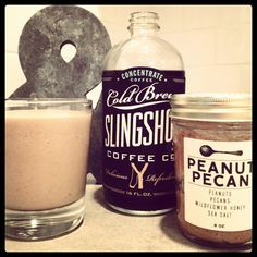 In a blender add:    2 bananas, sliced and frozen  2 tablespoons peanut butter (we used Big Spoon Roasters)  1/2 cup Slingshot Cold Brew Summer seasonal (concentrate)  3/4 cup ice    Makes approx. 10 ounces.    So. Good.