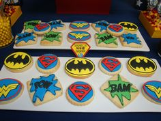 Superhero Sugar Cookies...I foresee myself having to do a superhero themed birthday party one day so these would be perfect!