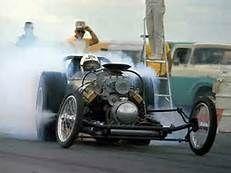 Vintage Drag Racing - Dragster burnout
