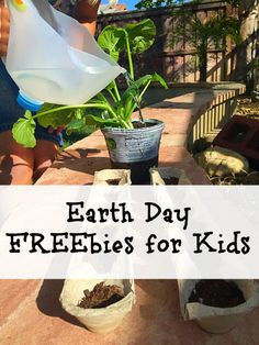 Earth Day freebies and activities for kids.