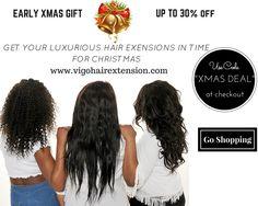 """Xmas hair sale - use code """"xmasdeal"""" at checkout"""